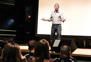Motivational Speaker Joe Rhea returns to talk to students