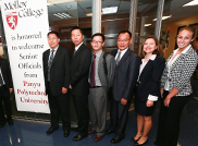 Chinese University officials visit Molloy