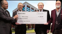 Molloy gets $1M Gift at Virtual Gala