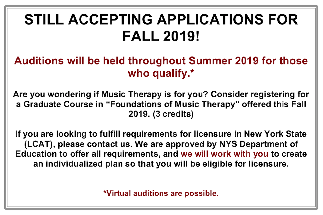 Molloy Academic Calendar 2020 Molloy College: Graduate Music Therapy