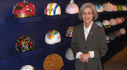 Professor's 2018 Winter Olympics Helmet Design on Display