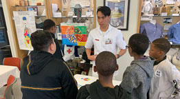 Local Youth Group Visits Molloy for Health Fair