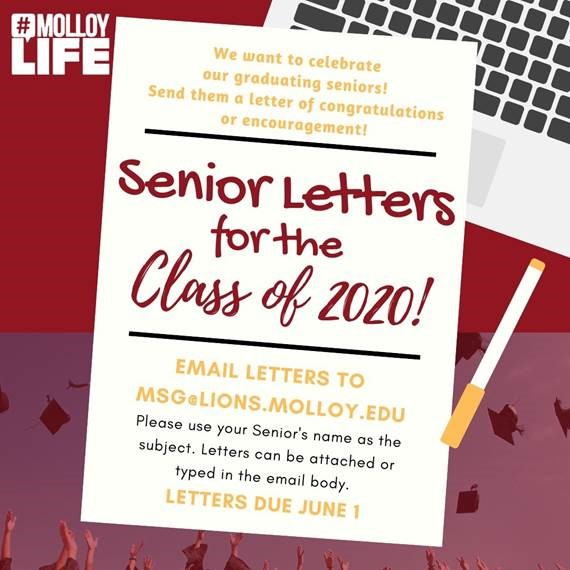 Senior Letters for the Class of 2020