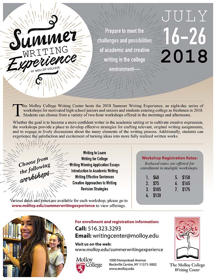 summer writing View classes offered for the summer writing institue at hofstra university continuing education (hempstead, new york - nassau county long island).